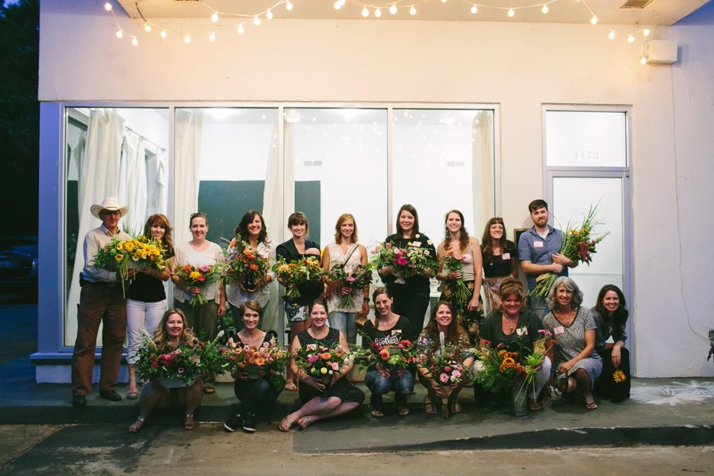 Farmers and Florists in Greenville, South Carolina, came together to celebrate local flowers for American Flowers Week 2016 (c) Angela Zion Photography