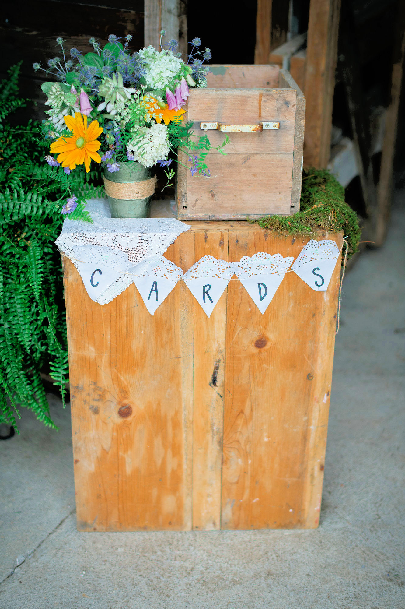diy wedding card table