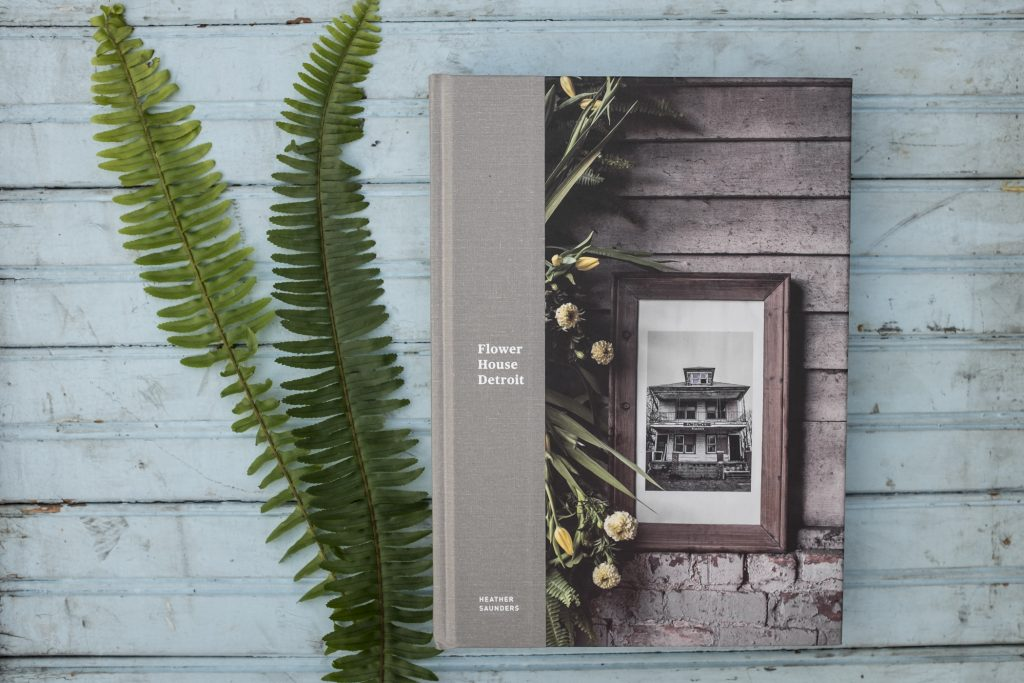 Flower House Detroit, a book conceived, written, illustrated and produced by Heather Saunders.